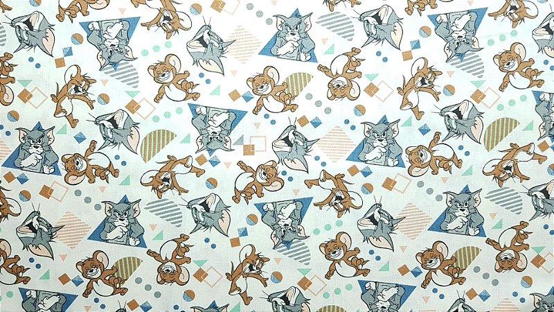 Tom & Jerry. Tecido 100% algodão. NT0073 (50x70cm)
