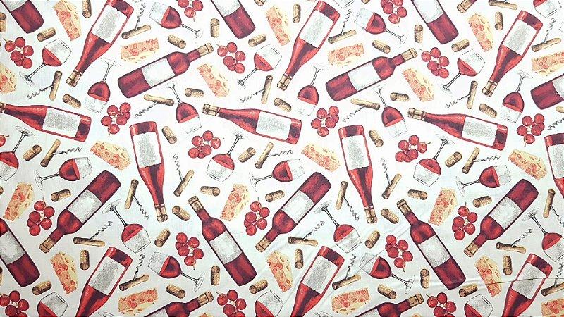 Red Wine. Tecido 100% algodão. NT0072 (50x70cm)
