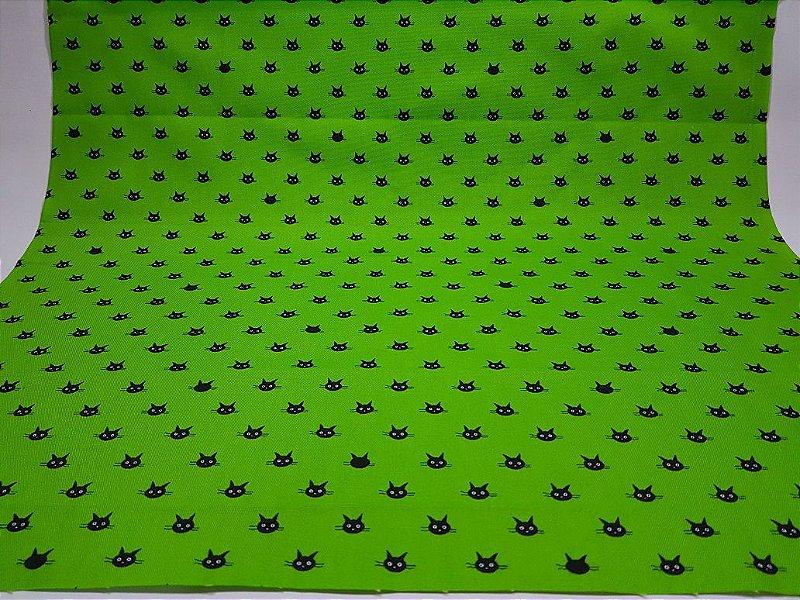 Black Kitten. Tecido Japonês Algodão+Linho (50x55cm)