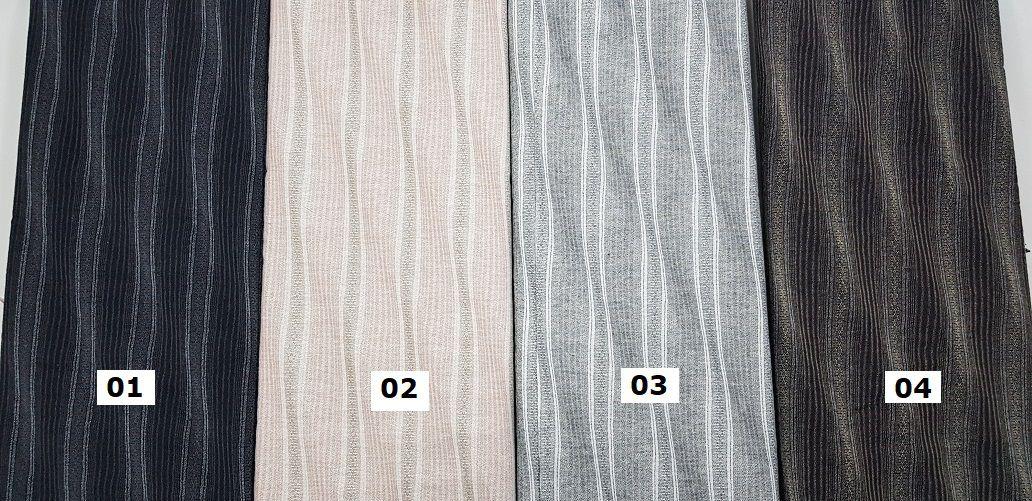 Taupe. Waves. Tec Japonês 100% Alg. AA027 (25x55cm)