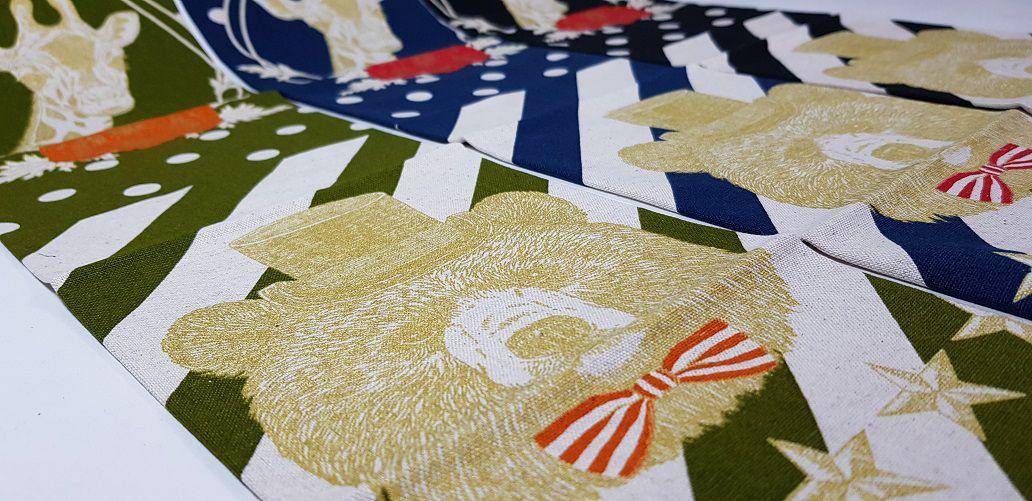 Coleção Os Bichos: Girafa/Urso. Painel Alg+Linho Jap. 3400007