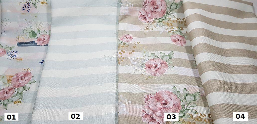 Floral. Tecido em Sarja Nacional  (50x160cm)