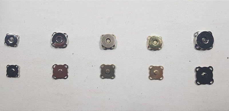 Botão Magnético de Costura Externa. Tamanhos de 12,14 e 18mm (saquinhos c/ 04pç ou 05pç)