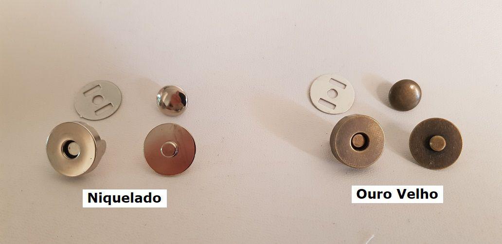 Botão Magnético de 01 Rebite. Tamanho 18mm c/ 05 unid.