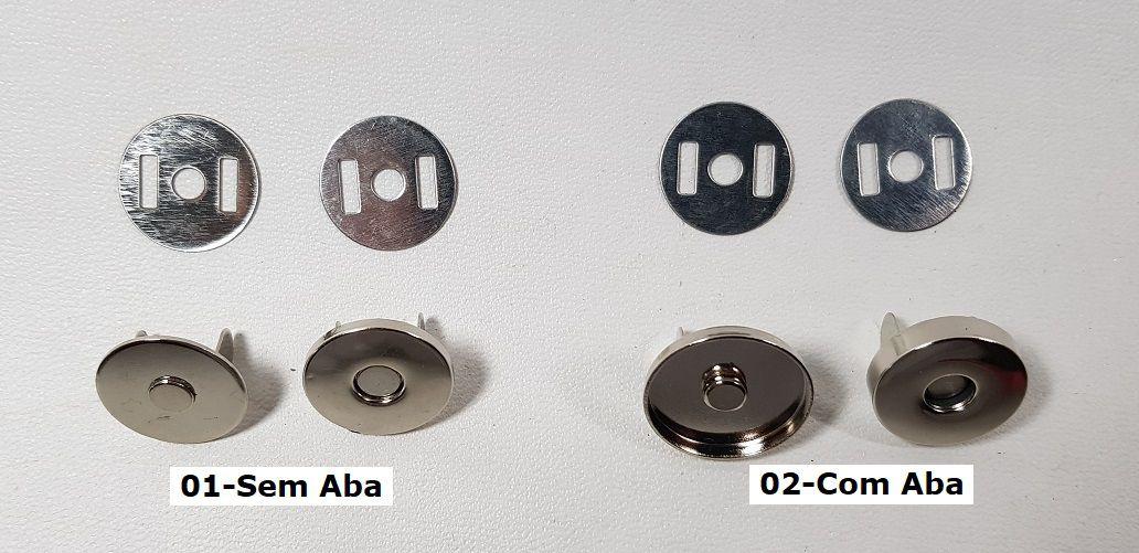 Botão Magnético Com/Sem Aba Lateral. Tam.18mm com 02 unid.
