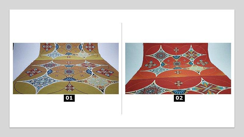 Jogo Americano: Mandala em Sarja  (01 unidade tem 04 pçs)