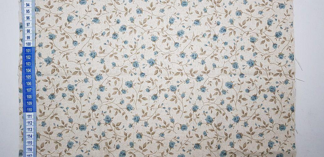 Little Blue Flower. Linho+Algodão  50x140cm