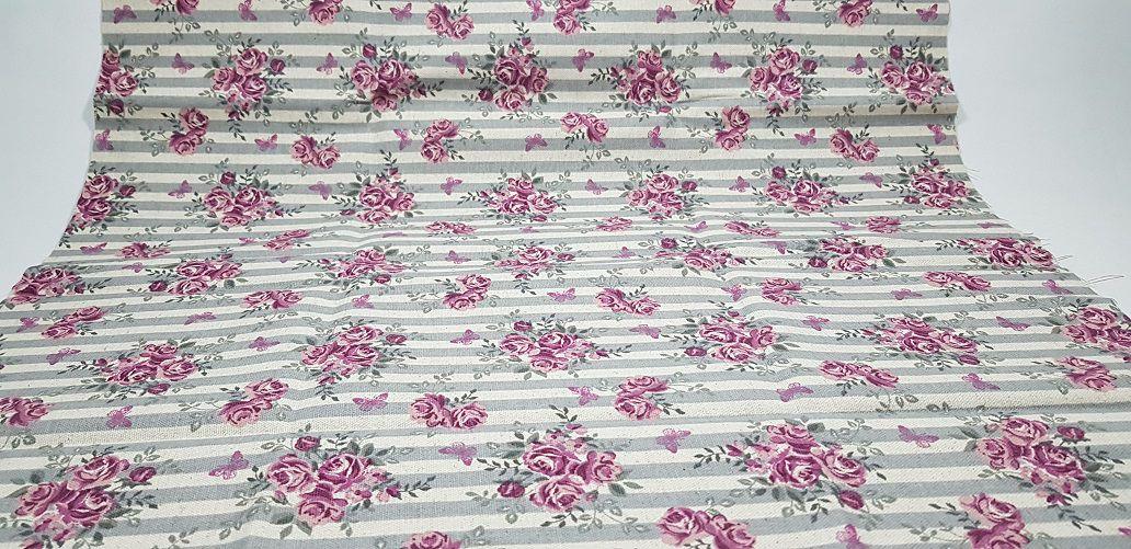 Rose Flower. Linho 50x140cm