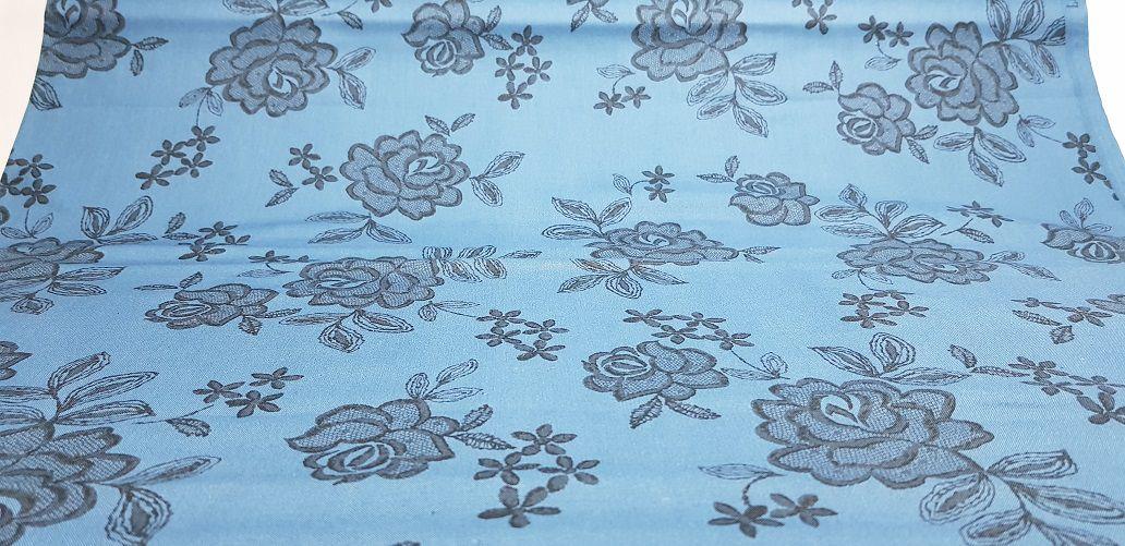 Blue Lace Flower. Algodão Japonês - 50x55cm