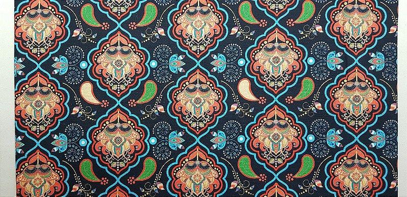 Mandala Azul. Tecido Digital. TD013. (50x70cm)