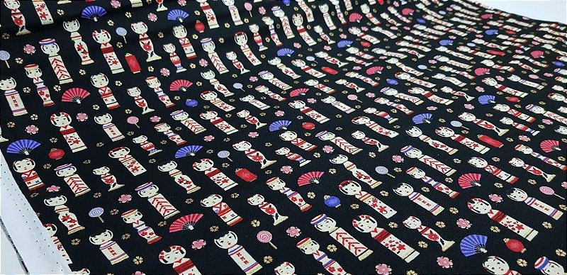 Bookmaker Japanese. Tecido 100% Algodão -  50 x55cm
