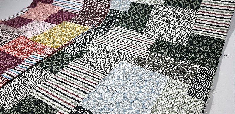 Squares. Tecido Japonês -  50 x55cm