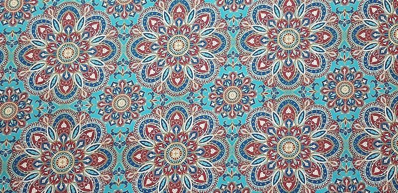 Mandala Tiffany. Tecido Digital. 50x140cm