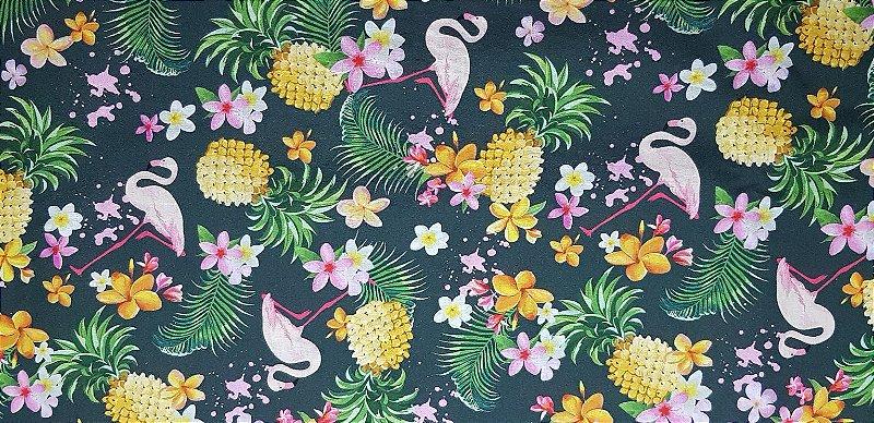 Flamingo.Tecido Digital. TD027 - 50cm x 70cm