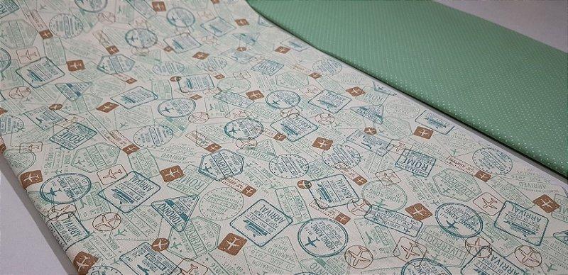 Composê. Selos de Viagem. TN101 - 2x(50X70cm)