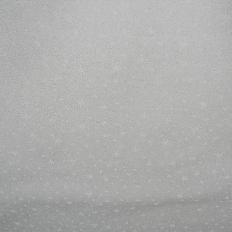 Tecido Branco Estampado Estrela. 50x140cm