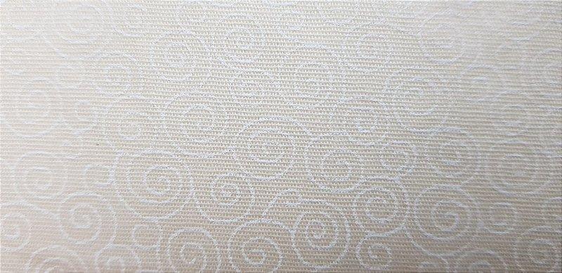 Tecido Creme Estampado Espiral. 50x140cm