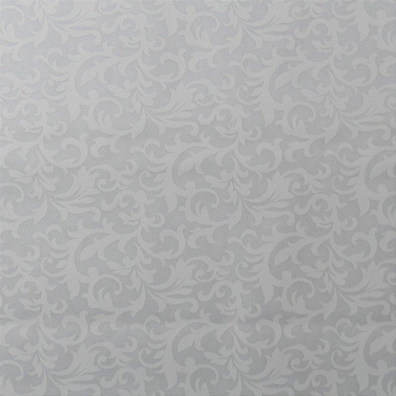 Tecido Branco Estampado Folhas. 50x140cm