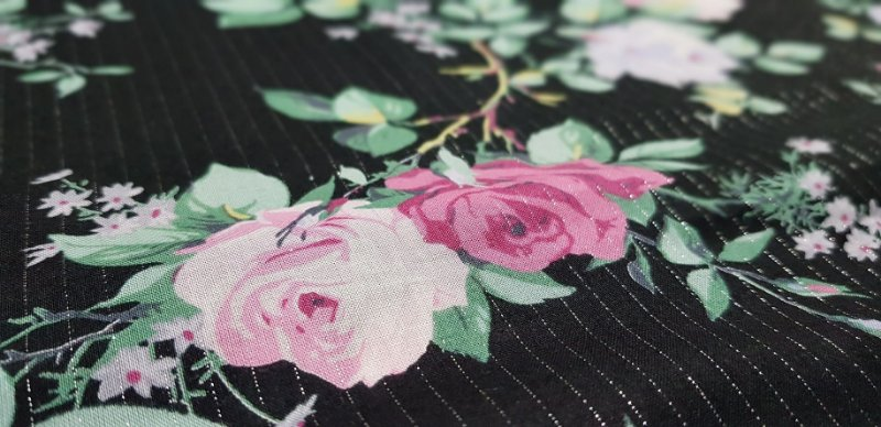 Flower in Silver Lines. Algodão Japonês. 3200004 (50x55cm)