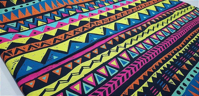 Triângulos Coloridos. Tec.Digital -50x70cm