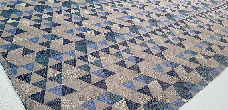Triângulos. Tec.Algodão Estruturado - 50x140cm