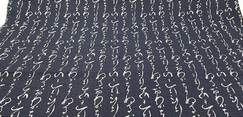 Navy Cotton. Iroha. Tecido Algodão Tradicional Encorpado Japonês. (50x55cm)