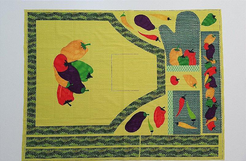 Avental+Luva de Cozinha. Painel