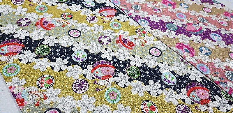 Flower in Balls. Douradinho. Tec Jap. JD0002 (50x55cm)