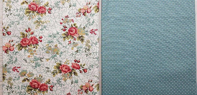 Composê Floral Rosas. NF0015. 2x(50x70cm)