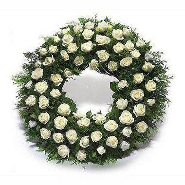 Coroa de Rosas Brancas Brasilia Especial 1 | Entrega Grátis | Dizeres Grátis