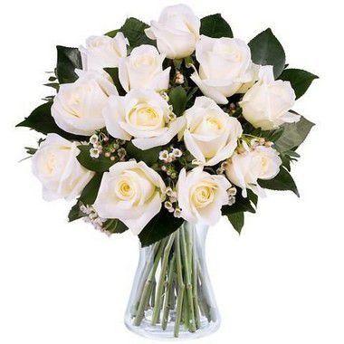 Arranjo de Rosas Brancas | Entrega Grátis | Dizeres Grátis