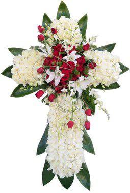 Coroa de Flores Brasília - Cruz de Rosas