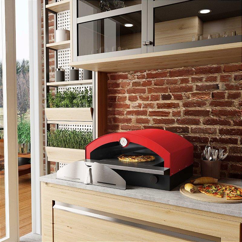 Forno de Pizza à Gás FS500V - Modelo Portátil Vermelho Metávila