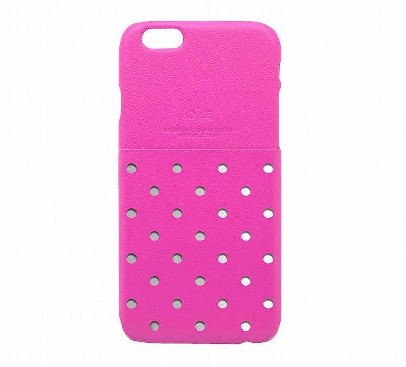 Capa iPhone 6s e iPhone 6 | Neon Collection Polka Dot com bolso traseiro