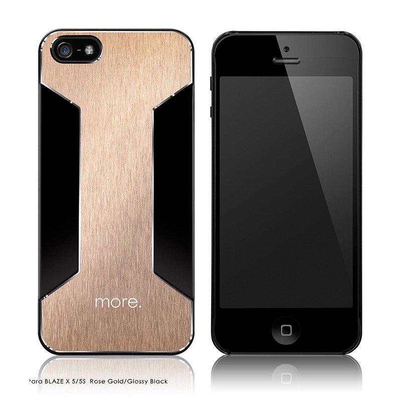 Para Blaze X - Capa aluminio para iPhone SE e iPhone 5S + Película