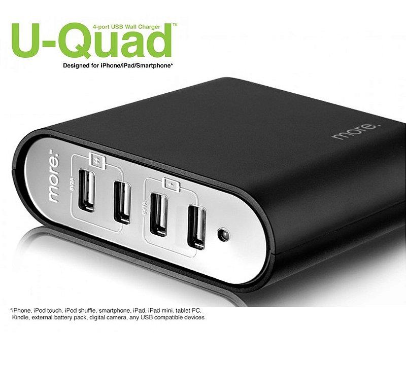 HUB USB 4 portas Carregador estabilizado - U-Quad 4-port Wall Charger