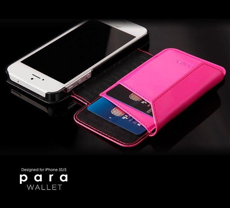 Para Wallet - Capa com Flip para iPhone SE e iPhone 5S + Película