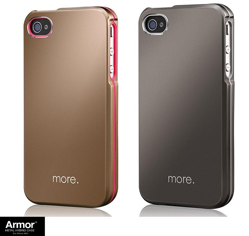 ARMOR Metal Case | Capa proteção para iPhone 4S 4 + Película
