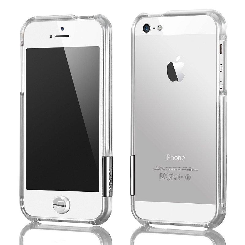 ColorGem Lucent - Bumper para iPhone SE e iPhone 5s + Película