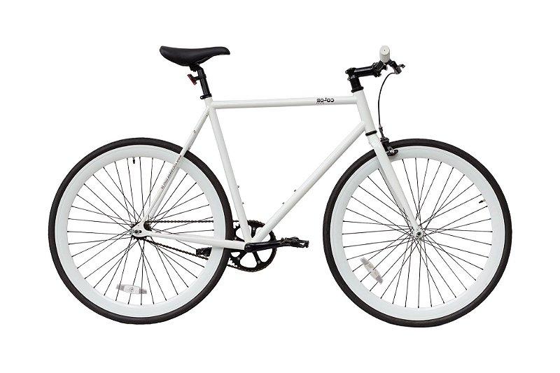 Bicicleta Fixa ou Roda Livre Colorbikes Branca Nevada