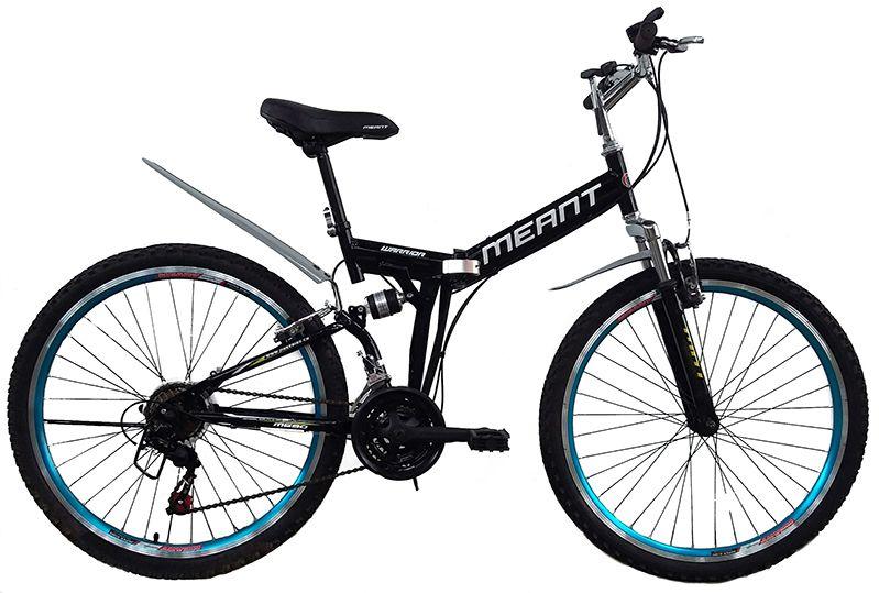 Bicicleta mountain bike dobrável aro 26 marca MEANT - Preta