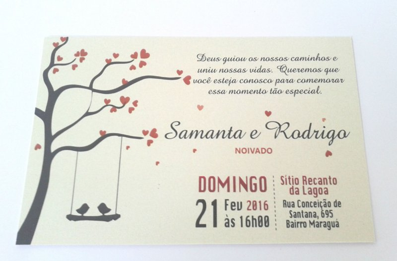 Convite Noivado PASSARINHOS 1