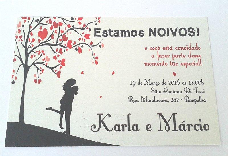 Convite Noivado CASAL