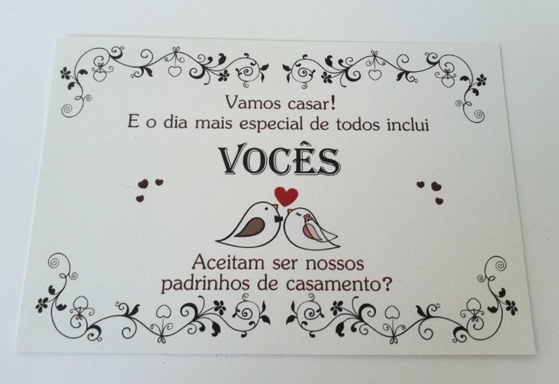 Convite Padrinhos PASSARINHOS 1