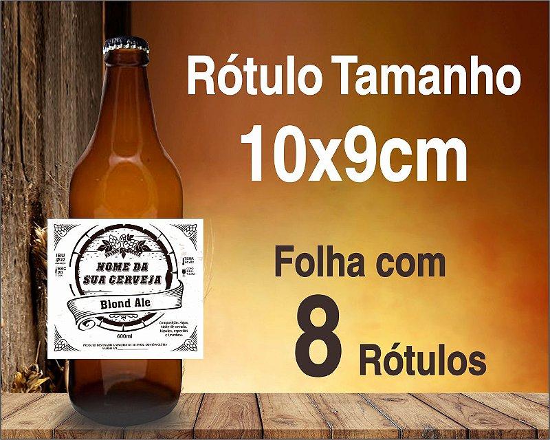RÓTULO de VINIL  PARA CERVEJA ARTESANAL - C/ 8 Rótulos  de 10x9cm