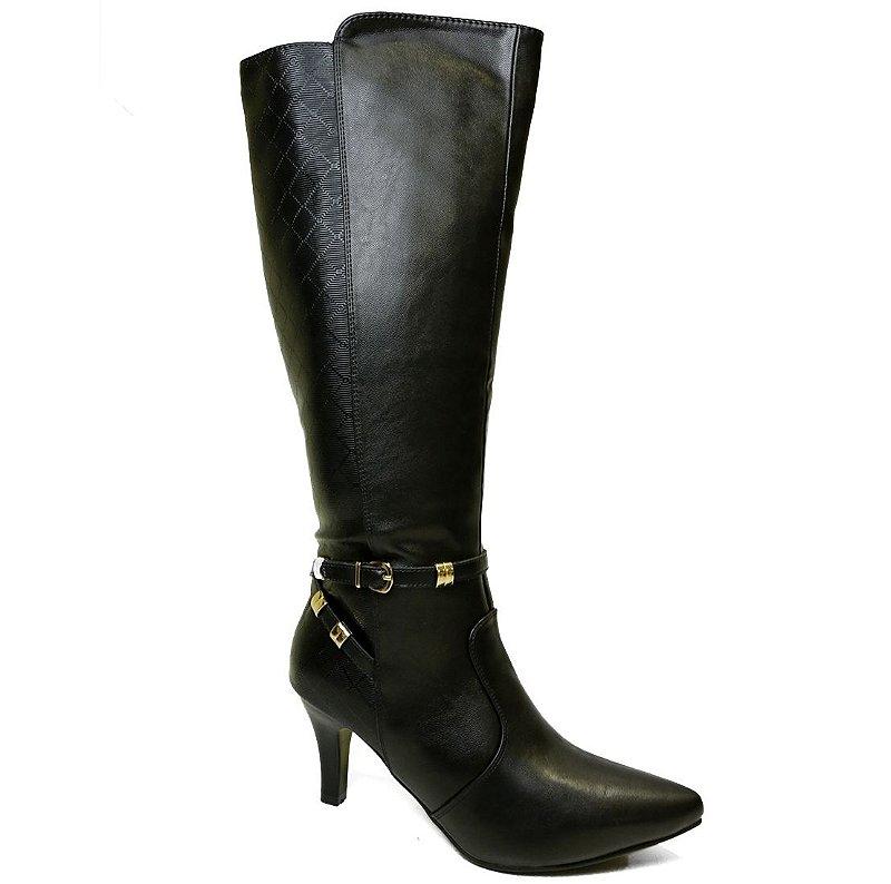 f90f08fef Bota Salto Fino Mooncity 73014 - Calçados Femininos, Calçados Masculinos,  Calçados Online - Território da Moda