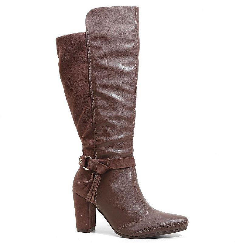 1a4909db9 Bota Ramarim 16-15103 Cano Alto Feminina Marrom - Calçados Femininos,  Calçados Masculinos, Calçados Online - Território da Moda