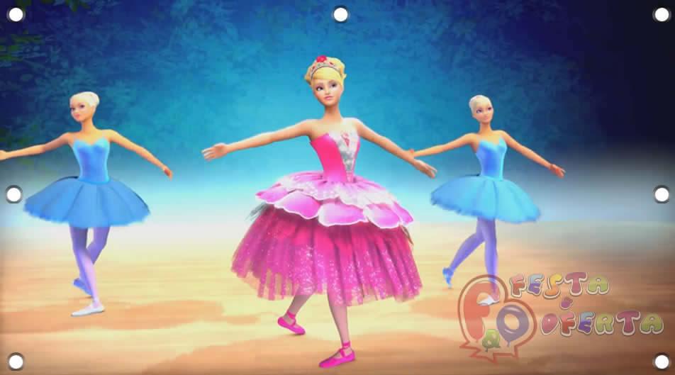 Painel para decoração de festa infantil barbie