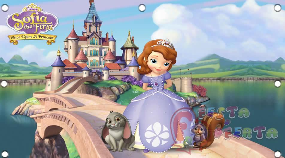 painel de festa princesinha sofia no castelo festa oferta