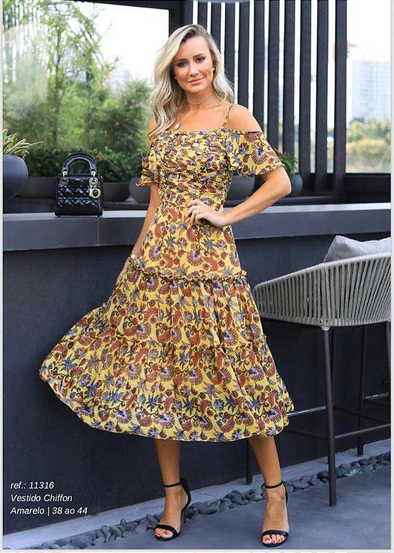 Vestido Chiffon Print Floral